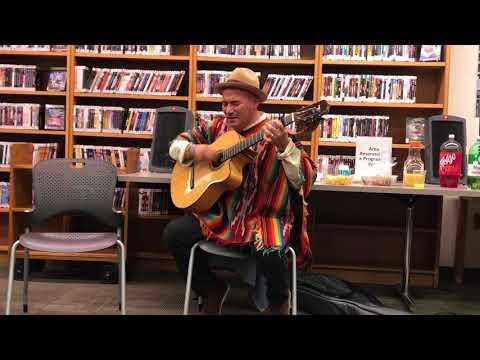 Fredy Velásquez solo de charango - En Roosevelt Island Library - New York