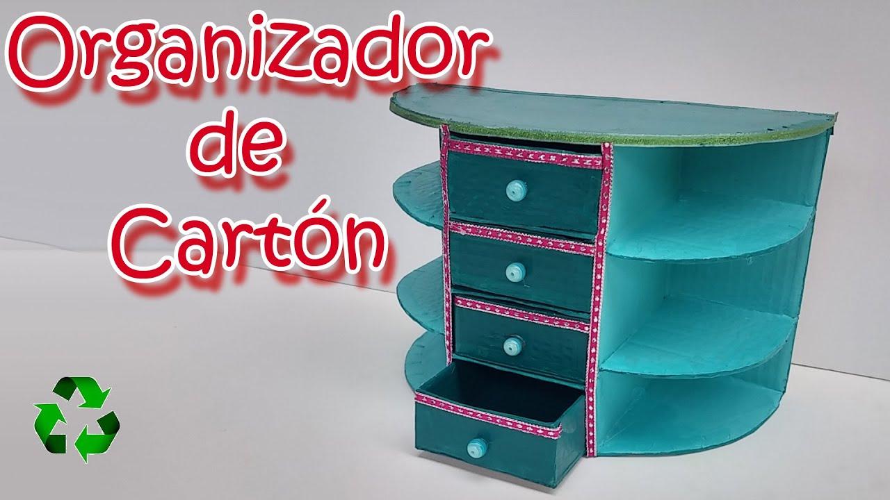 Organizador de escritorio diy manualidades para todos - Manualidades en reciclaje de carton ...