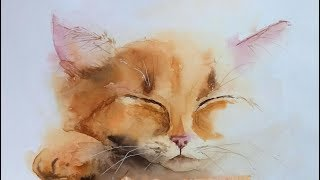 """Мастер-класс #53 """"Спящий котенок""""."""