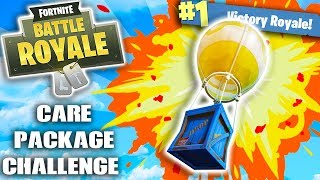 CARE PACKAGE CHALLENGE! (FORTNITE BATTLE ROYALE CHALLENGE)