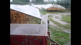 Ξάνθη ισχυρή βροχόπτωση - Κυριακή 11 Οκτωβρίου 2015