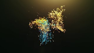 Advanced particles intro (logo reveal)