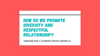 Q&A - How do we promote diversity and respectful relationship?