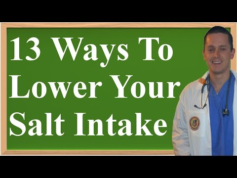 13 Ways To Succesfully Lower Your Salt...