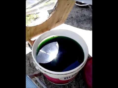 Fresnel lens stockpot evaporation test.