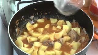 512. Тушённая картошка с капустой и куриными шейками. Мой рецепт на обед. Амурка онлайн