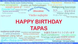 Tapas   Languages Idiomas - Happy Birthday