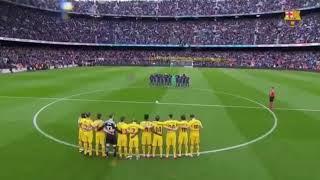 MINUTO DI SILENZIO PER DAVIDE ASTORI [BARCELLONA-ATLÉTICO MADRID]