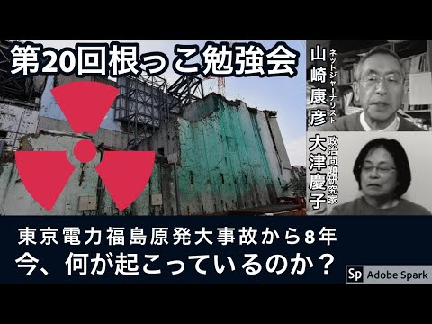 第20回根っこ勉強会テーマ:東電福島第1原発大事故から8年経った今何が起こっているのか
