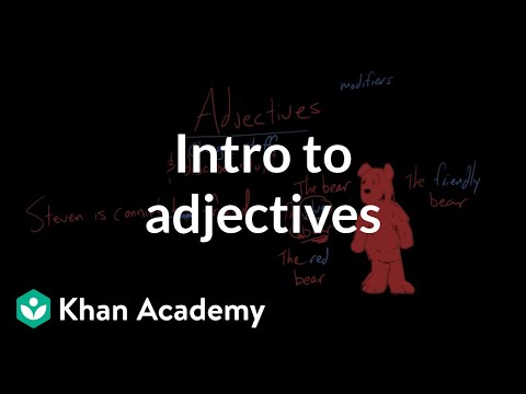 Introduction To Adjectives | Modifiers | The Parts Of Speech