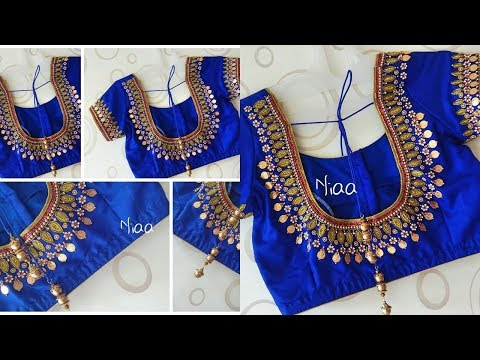 Dollar Coin Work Sequence Work Blouse Designs 2019
