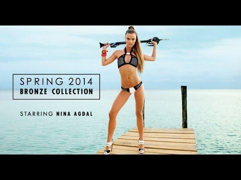 Nina Agdal, Beach Bunny Swimware shoot at Kanantik Reef & Jungle Resort, Belize - Unravel Travel TV