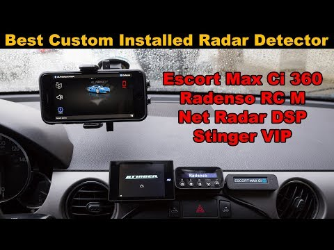 Best Custom Installed Radar Detector Comparison Review: Escort, Stinger, Radenso, Net Radar