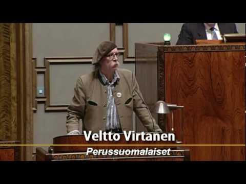 Veltto Virtanen puhuu Marko Sihvosen mielenosoituksesta