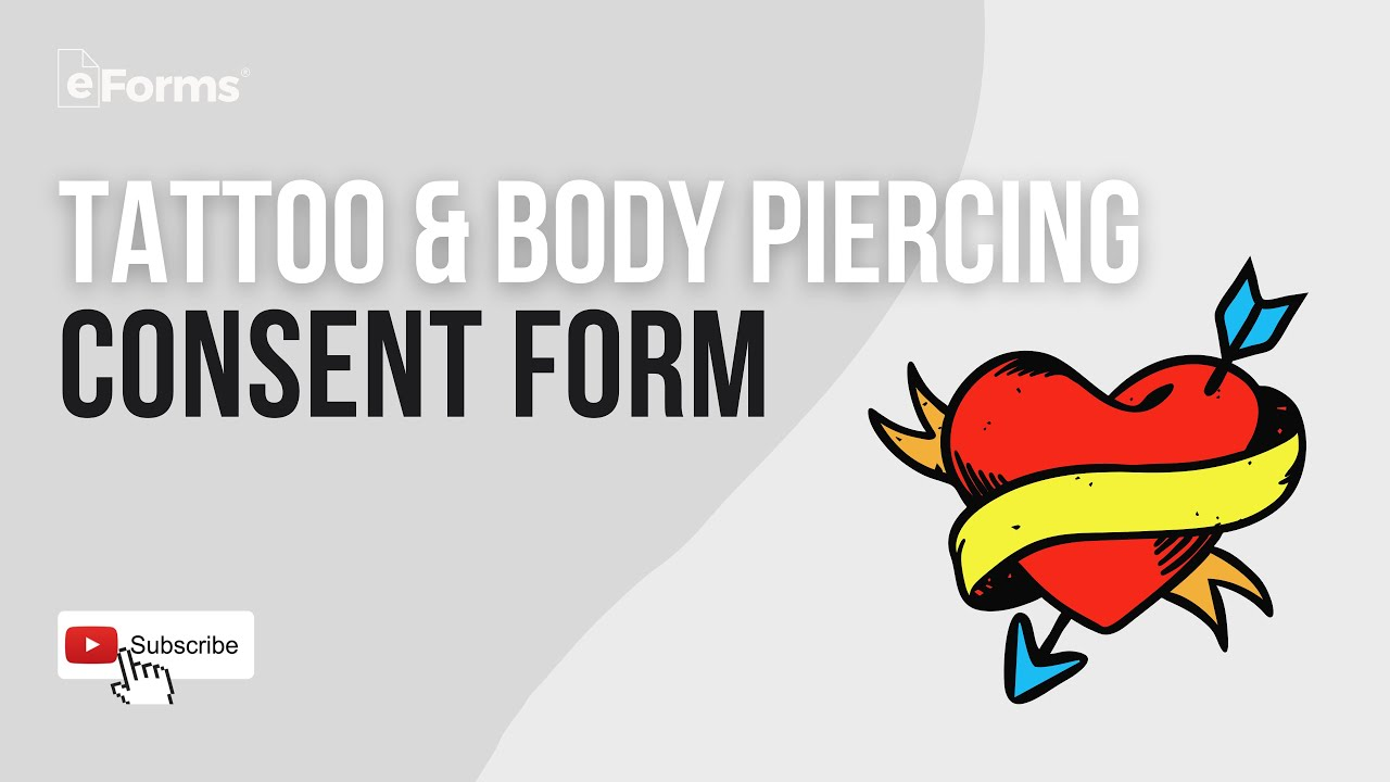 Free Tattoo Body Piercing Consent Form Word Pdf Eforms Free Fillable Forms