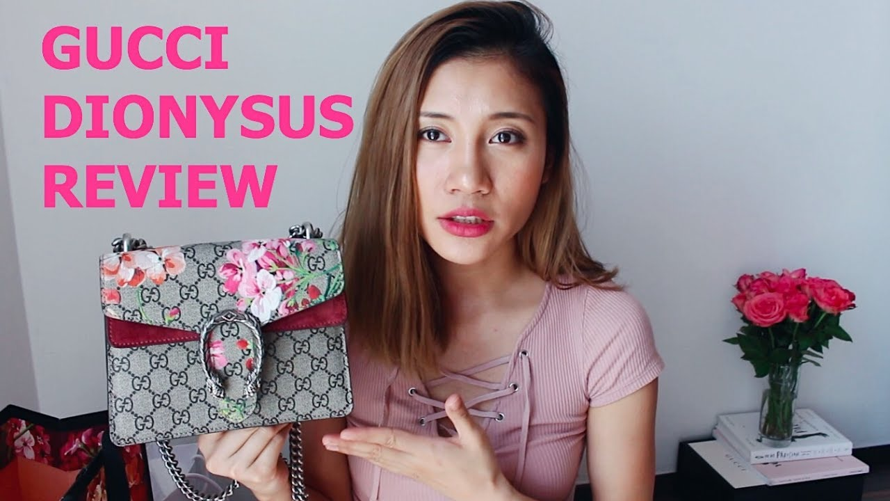 000eece45 GUCCI Dionysus GG Blooms mini bag REVIEW 酒神包天竺葵系列使用心得分享- YouTube