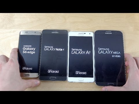 Samsung Galaxy S6 Edge vs. Galaxy Note 4 vs. Galaxy A7 vs. Galaxy Mega 6.3 - Which Is Faster?