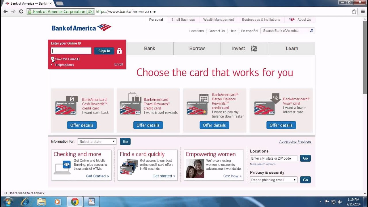 Bank of America - Bank of America Login and Sign In | BankofAmerica Bank Of America Sign In on