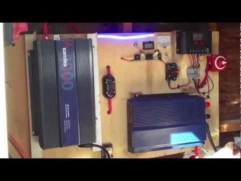 Install Harbor Freight Solar Panel 5x8 Enclosed Trailer