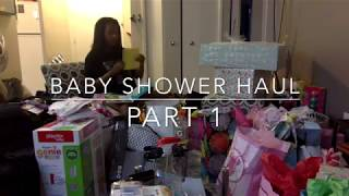 BABY SHOWER HAUL PART 1
