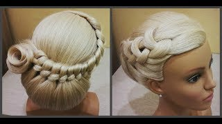 Прически.Быстрая прическа.легкое плетение волос.Bridal Hairstyle.For Long Hair Tutorial Step By Step