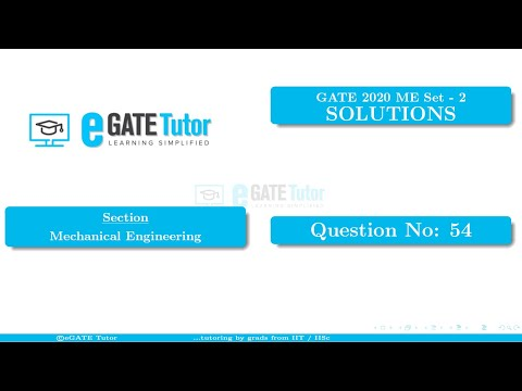 GATE 2020 ME Solutions | In A Steam Power Plant, Superheated Steam At 10 MPa... | Q54
