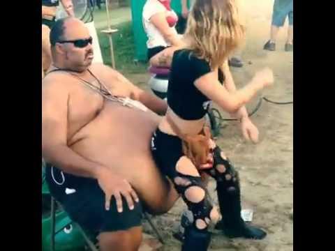 Guy getting lap dance