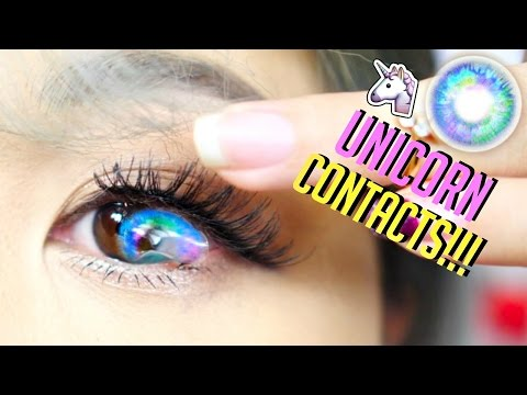 WORLD'S MOST BEAUTIFUL UNICORN CONTACT LENSES EVER!