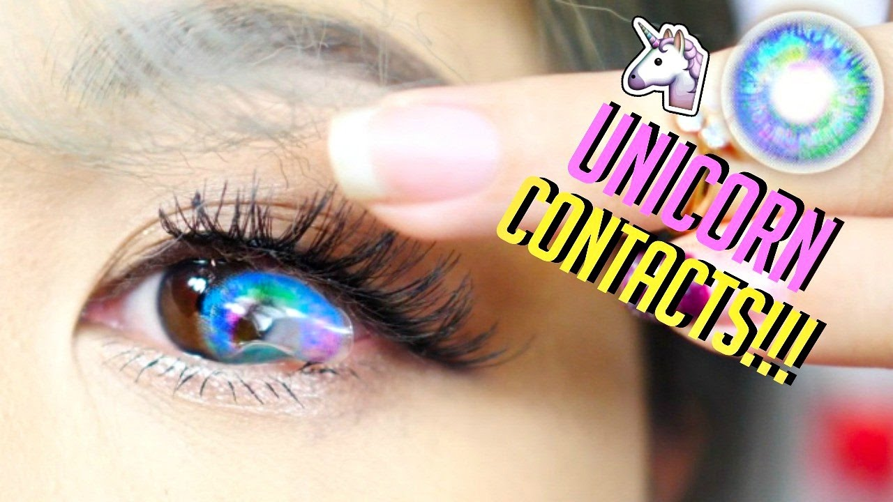 How to order colored contacts online - World S Most Beautiful Unicorn Contact Lenses Ever