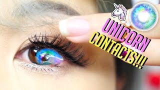 WORLD'S MOST BEAUTIFUL UNICORN CONTACT LENSES EVER! thumbnail