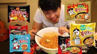 กินมาม่าเกาหลีเผ็ดระยำ!! ทีเดียว6ซอง รสไหนอร่อยสุด !!!!