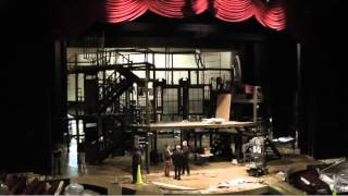 Time-lapse video of the construction of the ACT ONE set