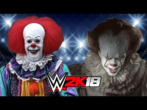 OLD PENNYWISE VS NEW PENNYWISE IT! | WWE 2K18 Gameplay