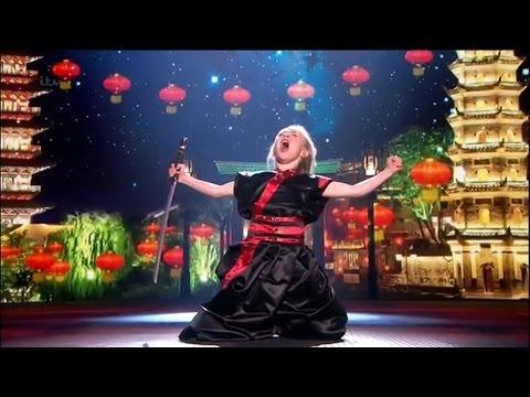 Britain's Got Talent 2015 S09E16 Semi-Finals Jesse Jane McParland 9 Year Old Martial Artist