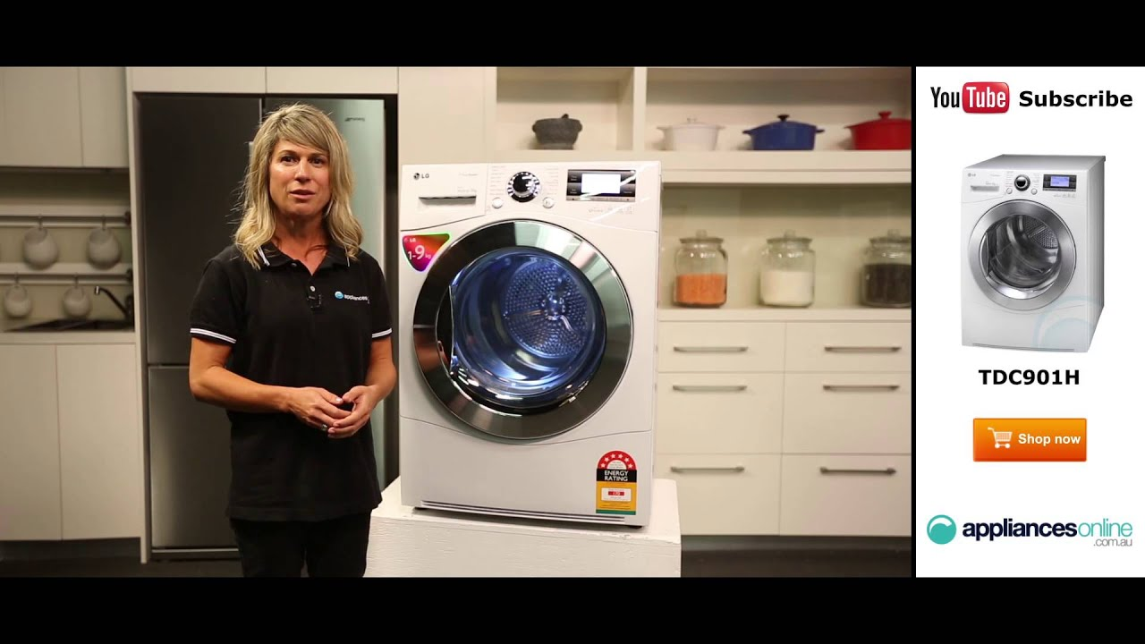 9kg Condenser LG Dryer TDC901H Reviewed by product expert - Appliances  Online