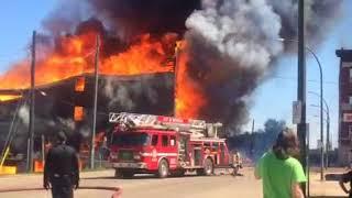 Brandon Manitoba multiple buildings on fire