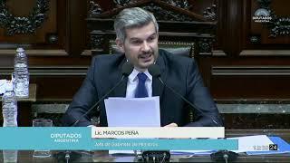 Informe del jefe de Gabinete, Marcos Peña, en la Cámara de Diputados.