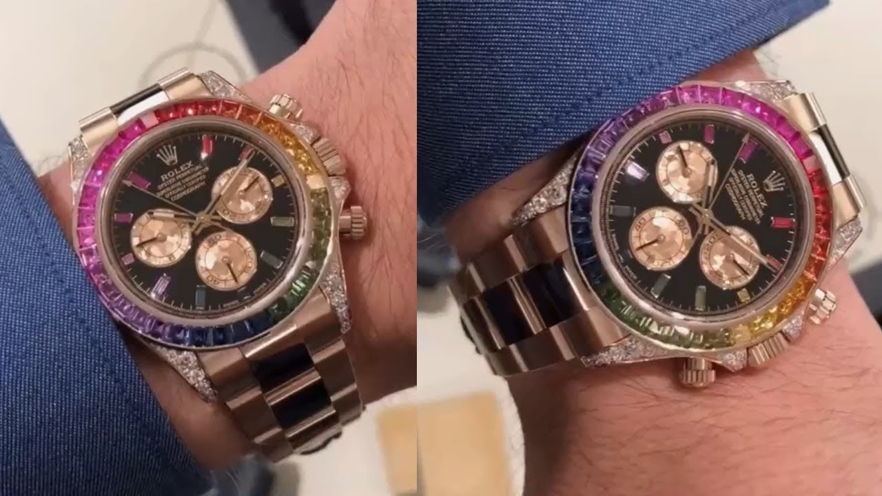 New 2018 Rolex Cosmograph Daytona 116595RBOW Black dial 40 mm Everose gold  luxury watch on wrist
