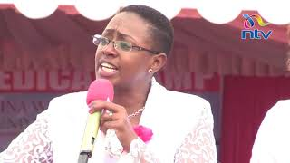 Muranga Women Rep. Sabina Chege sheds tears at 'Embrace' rally