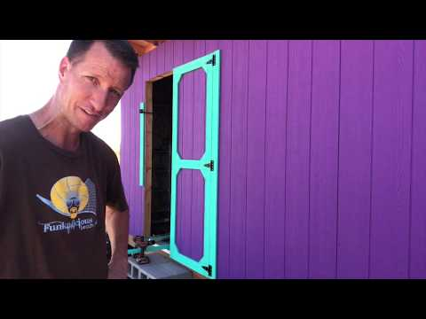 12'x24' DIY Shed Build (Part 9 – Homemade Double Doors)