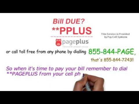 Pay PAGE PLUS By Phone - Dial **PAGEPLUS