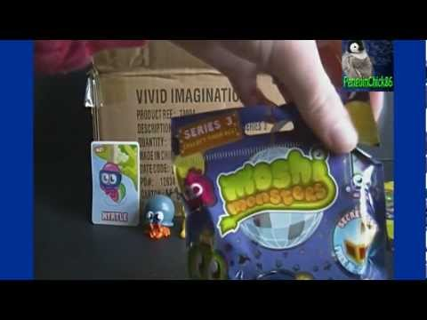 Opening a BOX of Moshi Monsters Moshlings Series 3 Blind Bag Packs (Part 1)