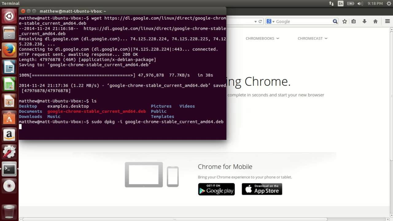 google chrome ubuntu 14.04