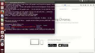 Installing Google Chrome in Ubuntu 14.04 Desktop