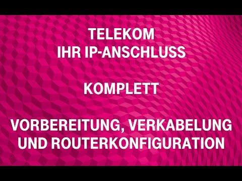 Social Media Post: Telekom - Ihr IP-Anschluss (komplett): Vorbereitung, Verkabelung...