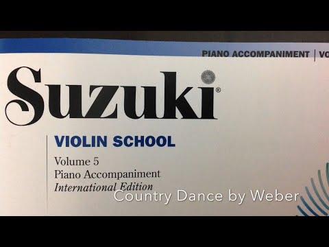 Country Dance, Carl Von Weber, Suzuki Violin School Volume 5, Piano Accompaniment