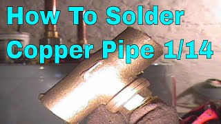 How To Solder Copper Pipe And Repipe Home Part 13