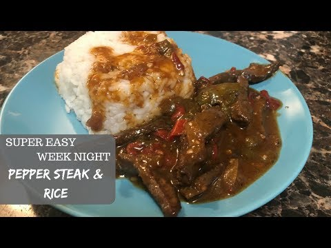 PEPPER STEAK & RICE|| Raising The Lee's RECIPES