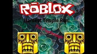 Roblox's Hardest Temple Run Playthrough