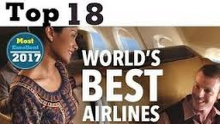 Top 10 Airlines - TOP 10 WORLDS BEST AIRLINES 2017  BY SKYTRAX